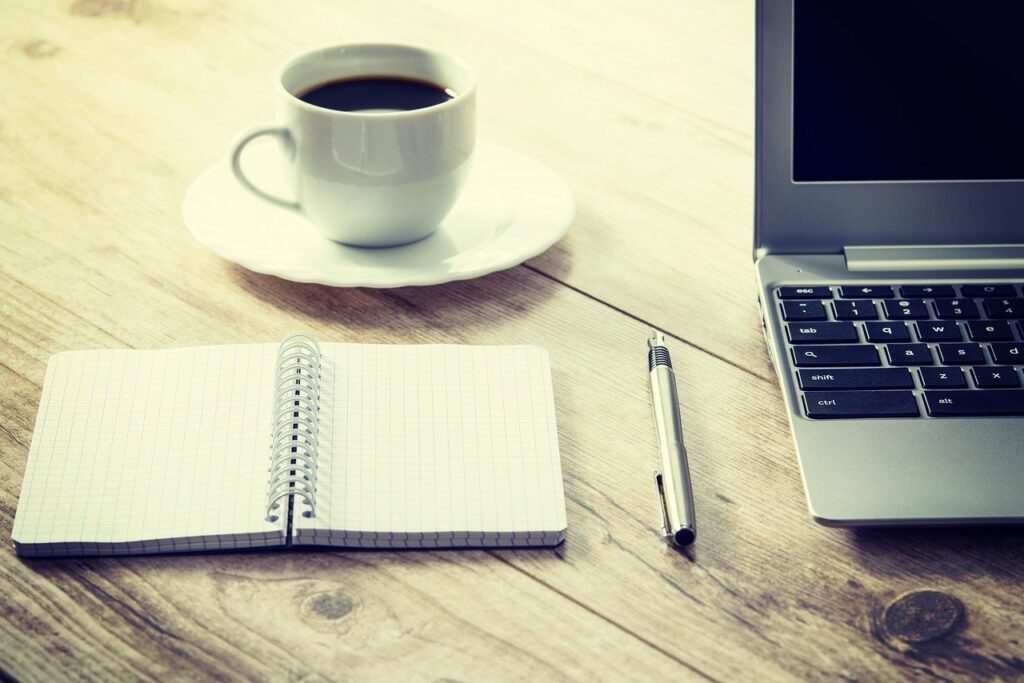 coffee, computer, cup